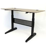 Boss Height Adjustable Desk – 60″W x 26.5″D – Driftwood