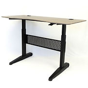 Boss Height Adjustable Desk – 60″W x 26.5″D – Driftwood