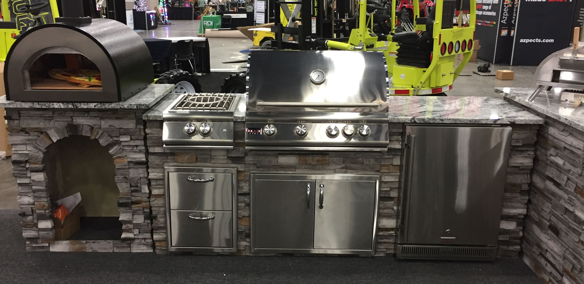 8' Grill Island with Add-Ons
