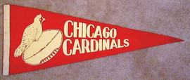 1940's Chicago Cardinals Football Pennant