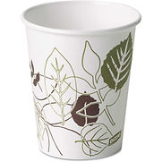 Dixie Hot Paper Cups, 10 Oz., 50/Pack, White/Nature Design