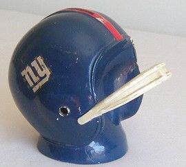 1960's New York Giants Metal Helmet Bank