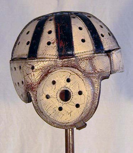 1920's Leather Football Helmet