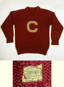 1910's Carlisle Indians Football Sweater/Jersey made by Spalding