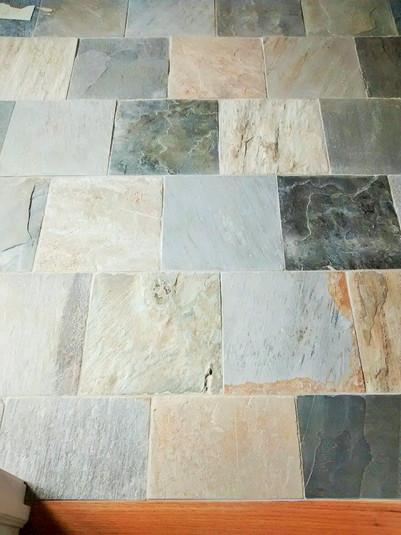 12x12 Desert Sand Cleft Slate