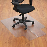 Interion Office Chair Mat for Hard Floor – 36″W x 48″L with 20″ x 10″ Lip – Straight Edge