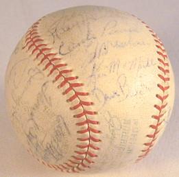 1968 Washington Senators Team Signed Baseball, on a Reach OAL Cronin.