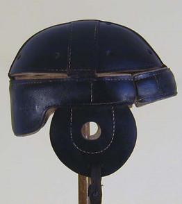 1910-15 Black Leather Dog-Ear Style Leather Football Helmet
