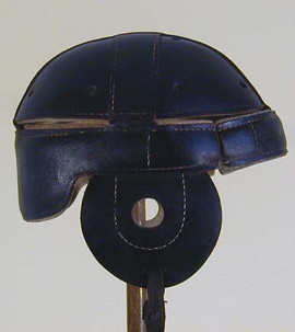 1910-15 Black Leather Dog-Ear Style Leather Football Helmet