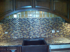 1x2 Glass Blend Mosaic, 4x4 Glass
