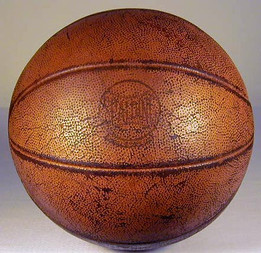 """1940's Spalding """"Official Olympic Laceless"""" Leather Basketball"""