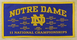 1988 University of Notre Dame Football Banner