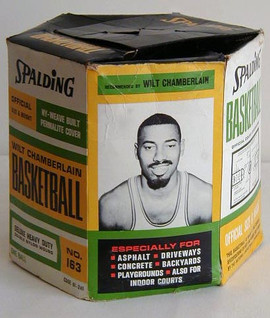Early 1960's Wilt Chamberlain Spalding Basketball Picture Box