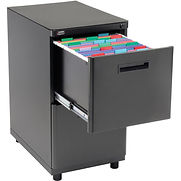 Interion 2 Drawer Pedestal File/File – Black