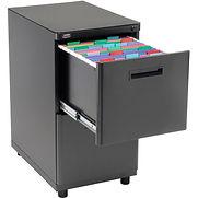 Interion 2 Drawer Pedestal File/File – Black