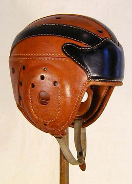 1920-30's Spalding Wing-Front, Michigan Style Leather Football Helmet