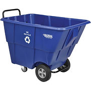 Deluxe Blue Plastic Recycling Tilt Truck