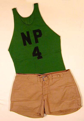 1910's Vintage Basketball Uniform with Quilted Shorts