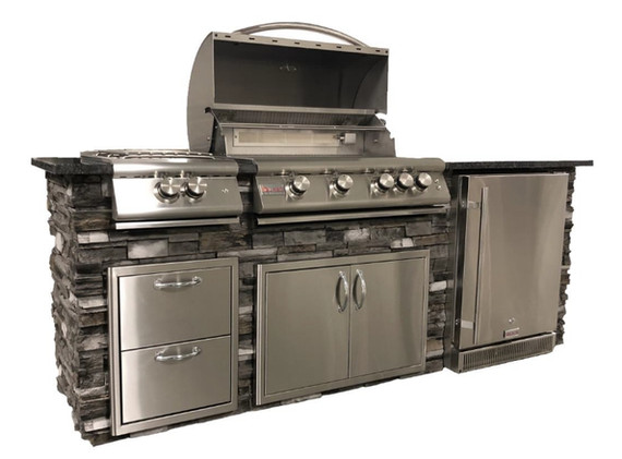 8' Grill Island: Standard Features