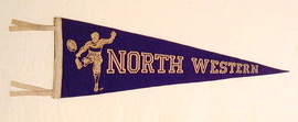 1920's North Western University Football Pennant