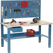 Best Value Industrial Adjustable Height Workbenches with Pegboard