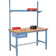 Pre-Configured Heavy Duty Height Adjustable Production Workbenches