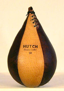 1920-30's Hutch 2-Tone Leather Boxing Speed Bag