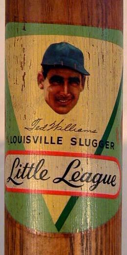 1940-50's Ted Williams Decal Baseball Bat