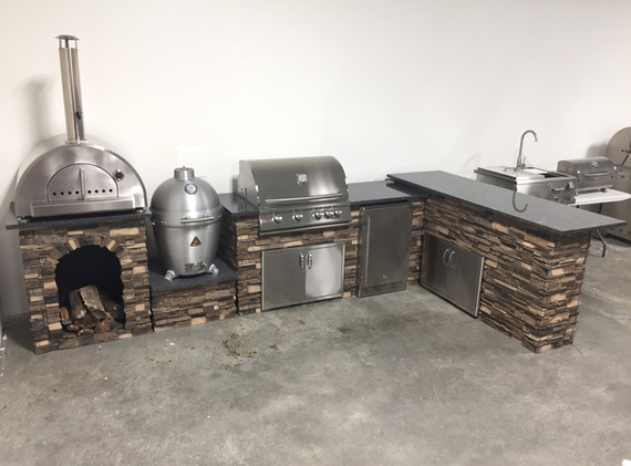 6' Grill Island with Add-ons