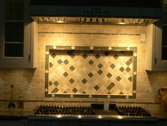 Stone & Glass Backsplash