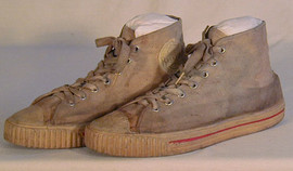 Vintage Canvas and Rubber Basketball Shoes - 1930-40's