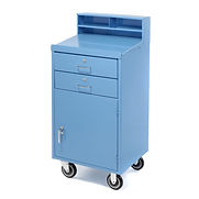 Pucel Mobile Cabinet Shop Desk FED-2023 with 2 Locking Drawers 23″W x 20″D x 51″H – Blue