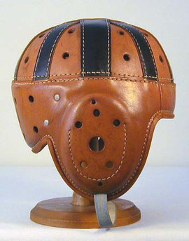 1920's Spalding Leather Football Helmet