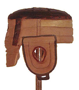 Spalding Flat Top Football Helmet - Moleskin and Leather