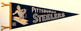 1950's Pittsburgh Steelers Football Pennant