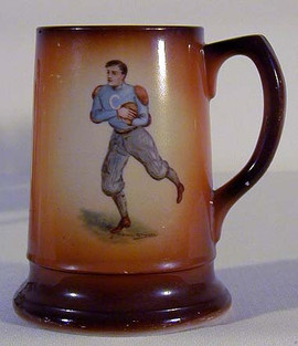 1900-10 University of Columbia Football Mug by F. Earl Christy