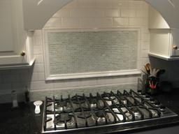 Surround - 3x6 Paper White Ceramic Tile, Fameout - Puka Glass Mosaic