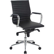 Interion Leather Conference Chair – Black