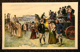 """1897 Football Print with Penn and Princeton, entitled """"The Rivals"""""""