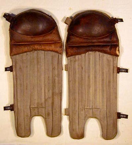 1910's Reeded Baseball Shin Guards made by Victor