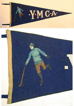 1900-10 YMCA Hockey Pennant