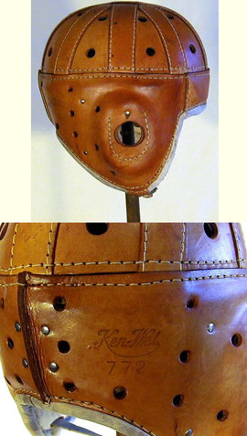 1920's Ken-Wel Leather Football Helmet