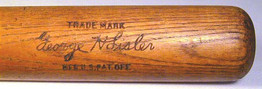 1920's George Sisler Baseball Bat
