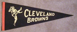 1940's Cleveland Browns Football Pennant