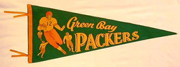 1940's Green Bay Packers Pennant
