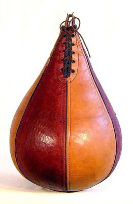 1920's McKinnon 2-Tone Leather Boxing Speed Bag