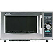 Sharp R-21LCFS, Commercial Microwave Oven, 1.0 Cu. Ft., 1000 Watt, Dial Control