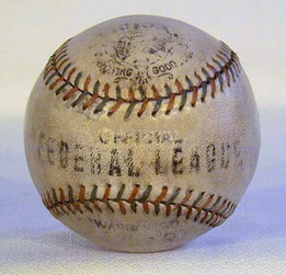 This 1914-15 Official Federal League baseball was made by the Victor Sporting Goods Company. This baseball is easily considered the rarest of all of the official league baseballs including all versions of the American League, National League, Negro League, different associations etc...!