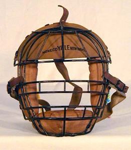 1920's Yale Catcher's Mask with Leather Visor