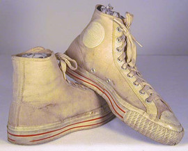 Vintage 1940's High Top Basketball Shoes